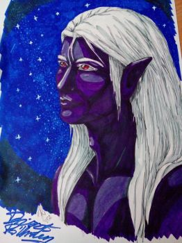 Drizzt final by PurplePastelChalk