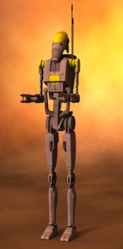 B1 Battle Droid by poopopopero