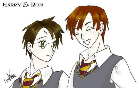 Harry y Ron by Harry-x-Ron