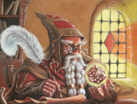 Dwarf Mage by MBrill