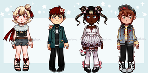 Chibi Adoptables 7  [point/USD] OPEN by C-ren