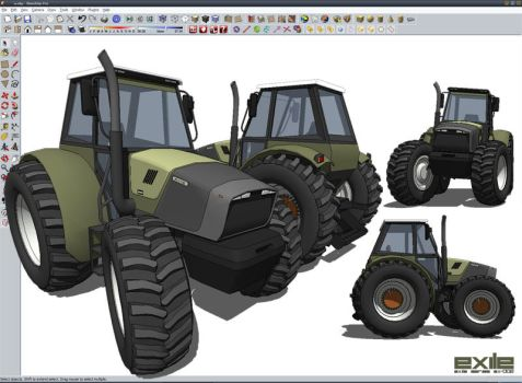 Tractor sketchup 3d by ivicavaljak