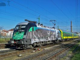 Liszt Ferenc lok with IC train in Gyor on 2010 by morpheus880223