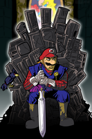 Deviant-Man Commission: Throne of Games by MichaelJLarson
