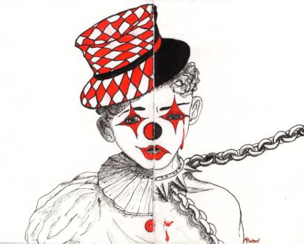 Clown are sometimes crying too by Miutari