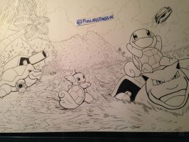 Inktober 2016 Day 6: Squirtle Family by Pixelated-Takkun