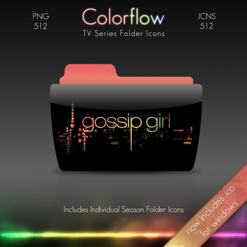 Colorflow TV Folder Icons: Gossip Girl by Crazyfool16