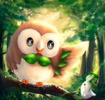 Rowlet [Speedpaint Tutorial] by b1tterRabbit