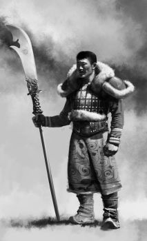 mongole warrior by mammouthe30