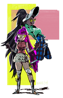 marcie and the peebles by spacedrunk