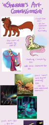 SHANNON'S ART COMMISSIONS - All slots open! by Spyzers