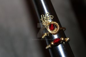 Crown Ruby Ring by RiverGold