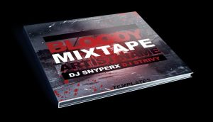 Bloody Mixtape CD Cover Free PSD Template by KlarensM