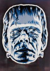 Frankenstein's Monster on cut wood by epyon5