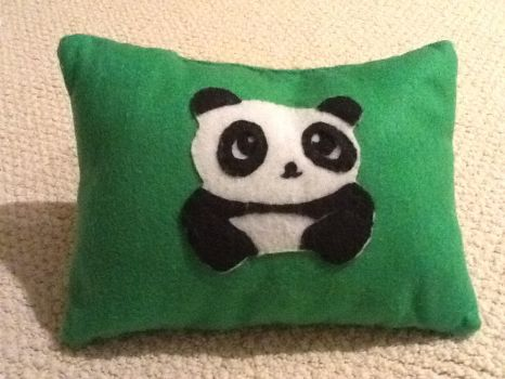 Panda pillow by pandagirl7171