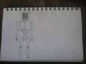 Security Droid Concept Art by TGMProductions