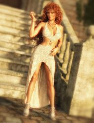 Promo Render - dForce Night Shine Dress for G8F by QuanticDementia