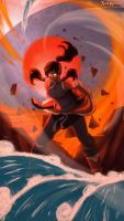Korra Avatar State Power by SolKorra