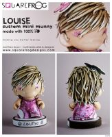 Louise-personalised munny by SquareFrogDesigns