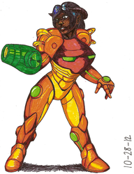 Kally as Samus 2012 colored by RocMegamanX