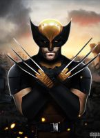 Hugh Jackman Wolverine Suit by Timetravel6000v2