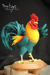 The cockerel [felted toy] by Irentoys