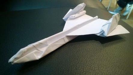 Origami SR-71 Blackbird by taerkitty