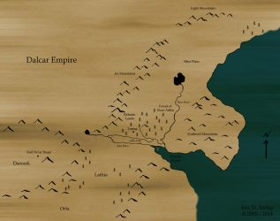 My fantasy map, 2013 version by Delmne