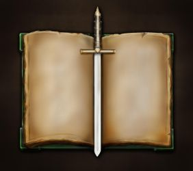 Book and Dagger by KodiakGraphics
