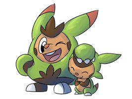 Chespin and Quilladin