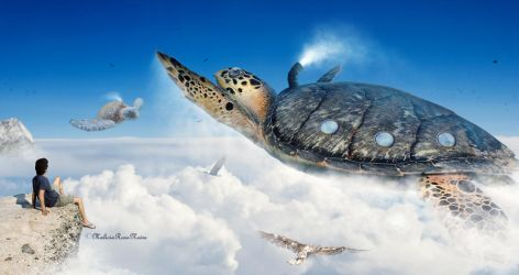 The flight of turtles by MaliciaRoseNoire