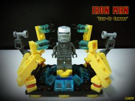 LEGO Iron Man Suit-Up Gantry by areev19