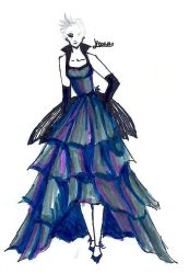 Yoona Dress Sketch by IndiMage