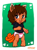 Mikey the Vulpix (2015) by Shima-pad
