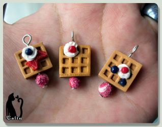 Polymer Clay Fruit Waffles by Talty