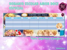 HORARIO ESCOLA :NATHANIEL AMOUR SUCRET by Marylusa18
