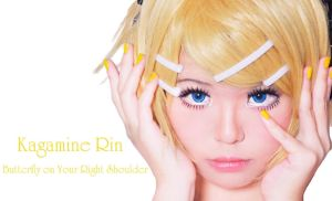 Kagamine Rin - Butterfly On Your Right Shoulder by AkaiRizumu
