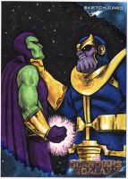 Guardians of the Galaxy - Drax vs Thanos by tdastick
