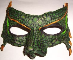 Dragon Mask 1 by DelusionsOfHolbert