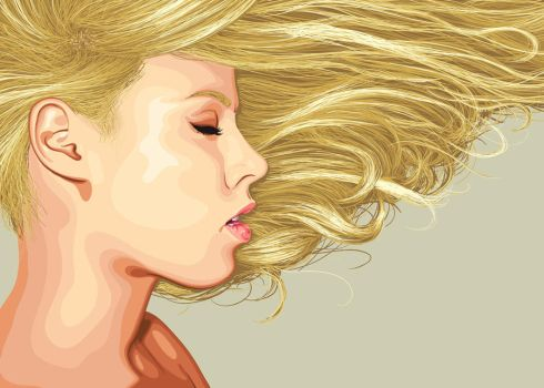Girl with blonde hair by gnyp