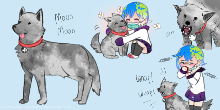 [Solar Sys-Gals] Moon Moon the Assist Doggo by DatWeirdoWhoLuvsMilk