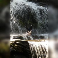 Waterfall contortion by GothicRavenMidnight
