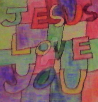 Jesus Loves You by littlesonic1234