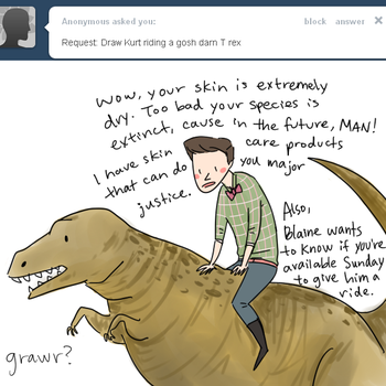 Dino and Kurt are BFFs by annit-the-conqueror