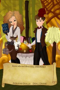 the 11th doctor and River Song by the-alchemy-of-me