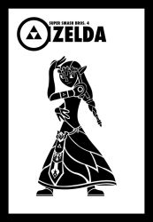 Smash Vectors: Zelda (black) by TriforceJ