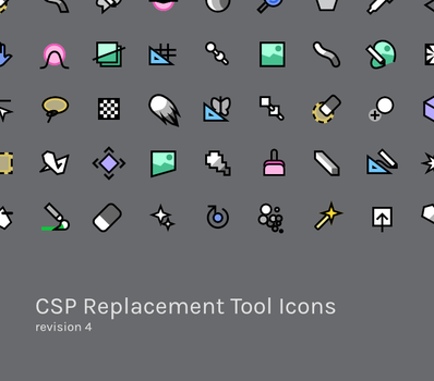 CSP Tool Replacement Icons, r4 by acidscratch