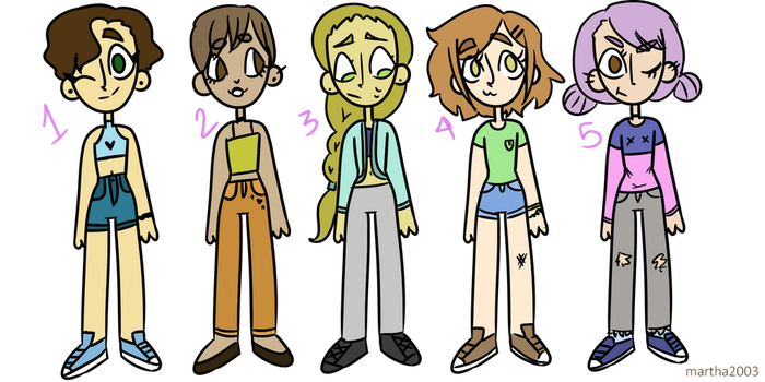 Cute Adoptables! OPEN (trading and points) (1 free by Martha2003