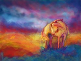 Horse Colorful Painting by JulieLukeartwork