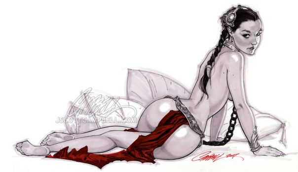 Slave Leia Christy 2 by J-Scott-Campbell